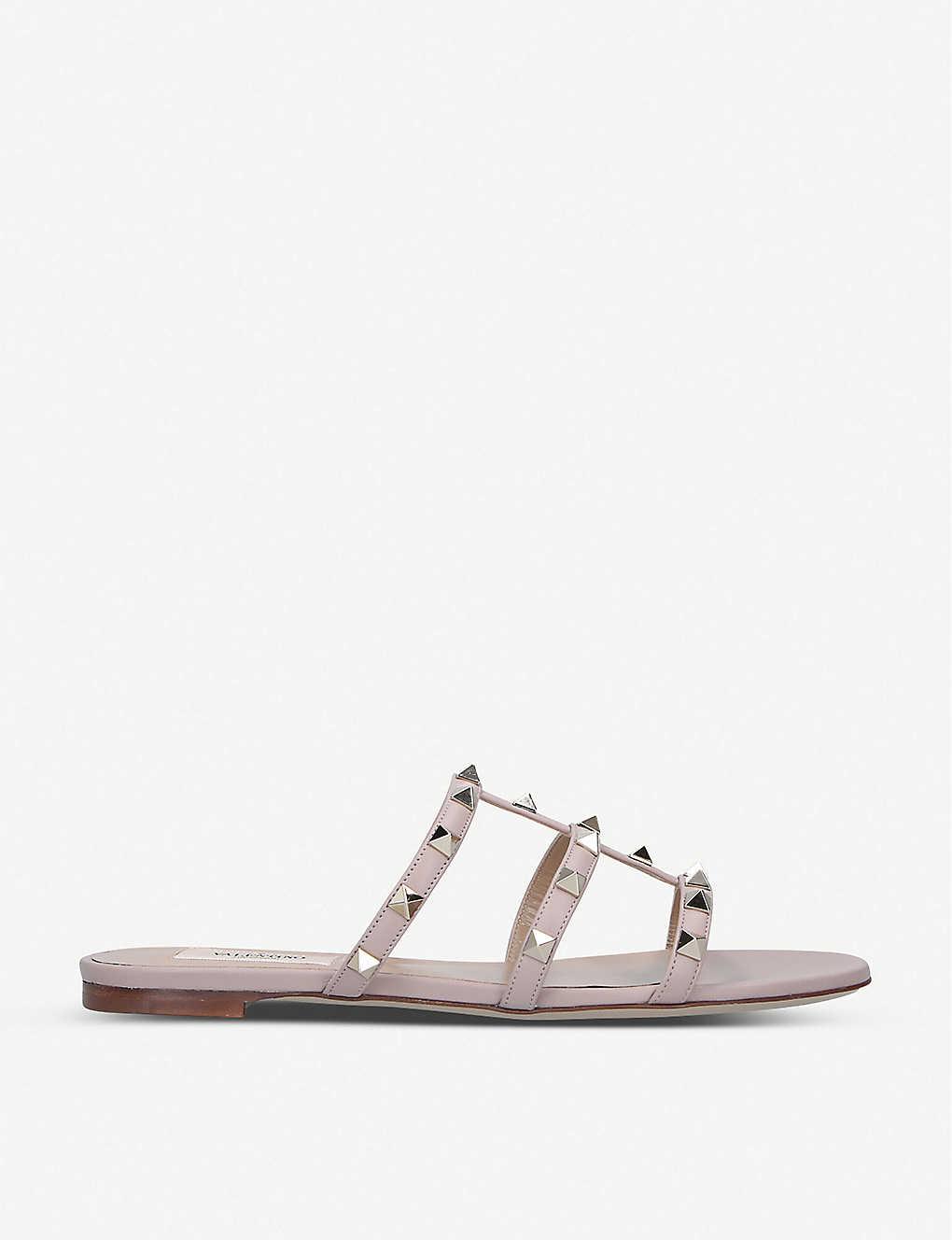 Valentino Slippers Rockstud leather slide sandals