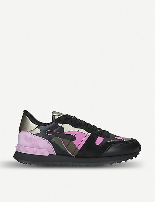 df2bb7c6b58f4b VALENTINO Camouflage studded-heel leather trainers