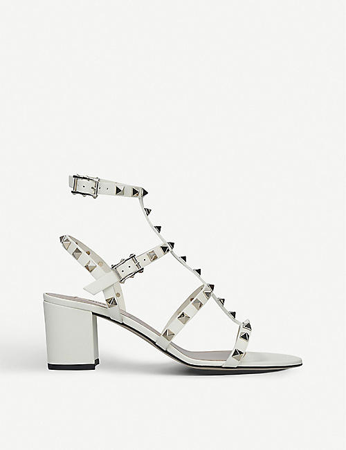 VALENTINO Rockstud leather heeled sandals