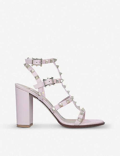 15d718f5fa45 VALENTINO Rockstud block-heel leather sandals