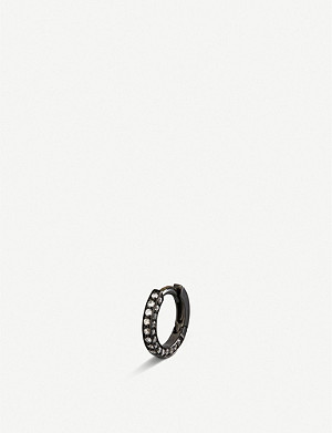 REPOSSI Diamond-paved 18-ct gold hoop earring