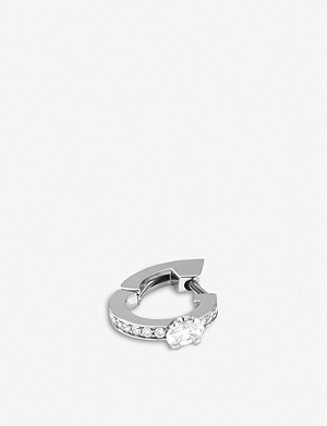 REPOSSI Harvest mini Créole 18ct white-gold and diamond earring