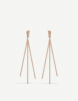 REPOSSI Planches 18ct rose-gold and diamond earrings