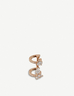 REPOSSI Sertie Sur Vide diamond-paved 18-carat gold earrings