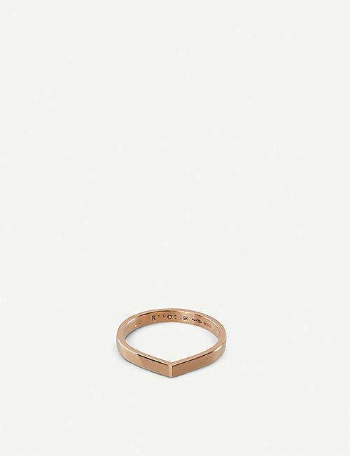 REPOSSI Antifer slim 18ct pink-gold ring