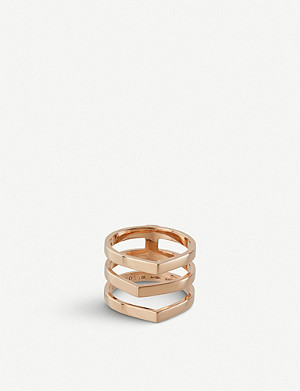 REPOSSI Antifer trio 18ct pink-gold ring