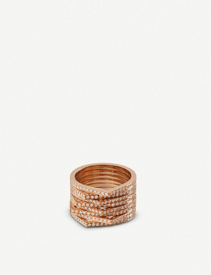 REPOSSI Antifer 18ct pink-gold and diamond ring