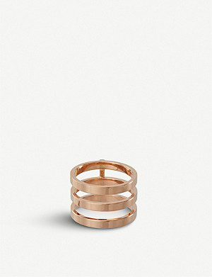 REPOSSI Antifer four stack 18ct pink-gold ring