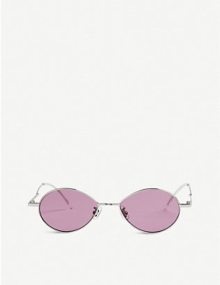 GENTLE MONSTER: Cobalt tinted stainless steel sunglasses