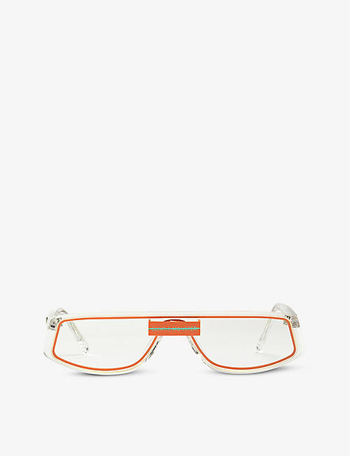 GENTLE MONSTER: Cold C1 rectangle-frame acetate sunglasses