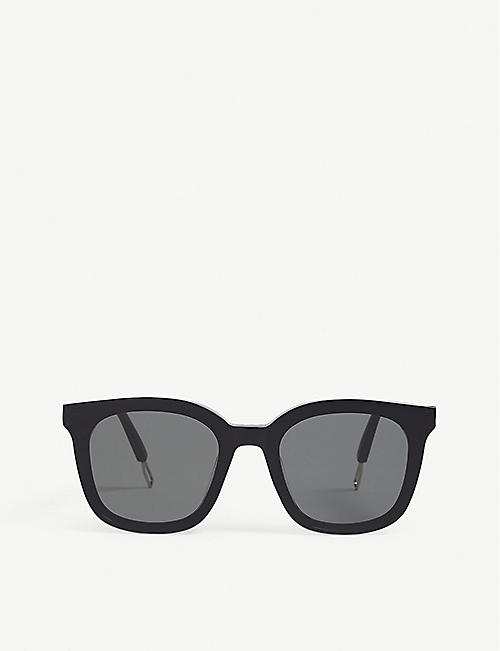 GENTLE MONSTER: PAPAS-01 Papas acetate and metal sunglasses