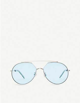 GENTLE MONSTER: Z-1 stainless steel, monel and acetate sunglasses
