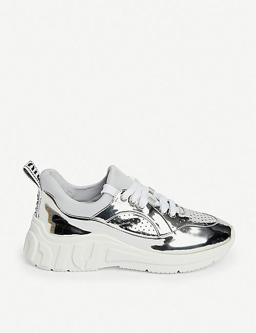MIU MIU Miu Run neoprene and lamé trainers