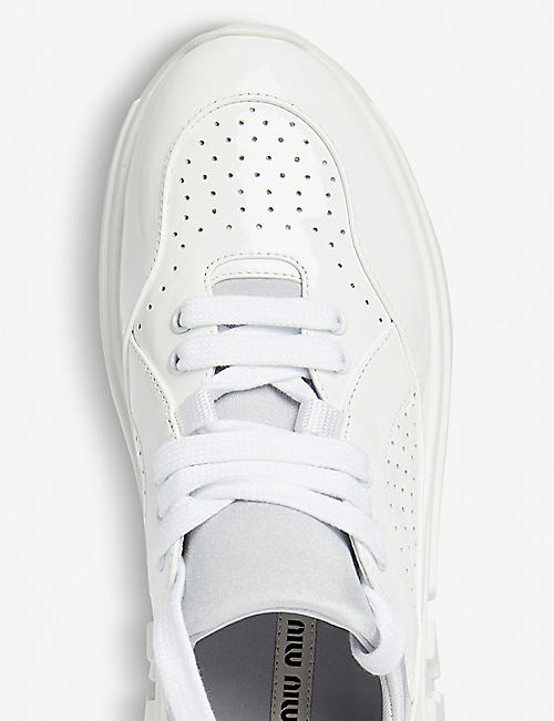 MIU MIU Miu Run patent-leather trainers
