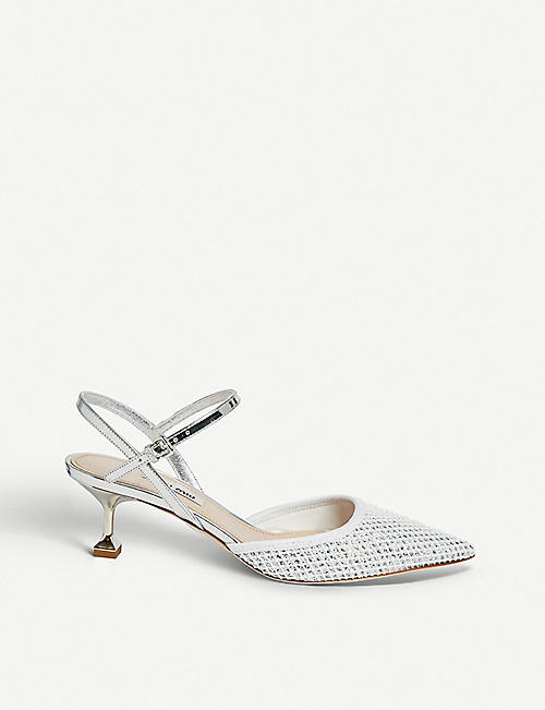 de37b6a2348b MIU MIU Glittered slingback sandals