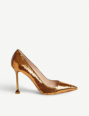 MIU MIU Metallic-heel sequin pumps