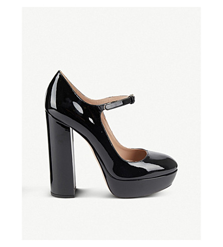 ... MIU MIU Patent leather platform Mary Janes (Nero. PreviousNext 269e943cb230