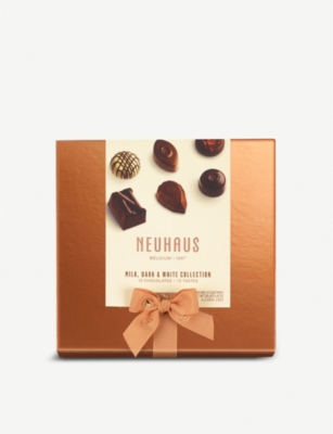 NEUHAUS Milk, dark and white chocolates assorted box of 25