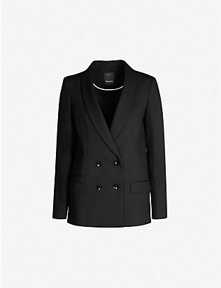 PINKO: Primo double-breasted stretch-woven jacket
