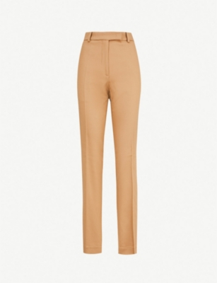 PINKO Ermanno side-stripe high-rise straight stretch-wool trousers