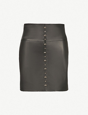 PINKO Simone leather mini skirt