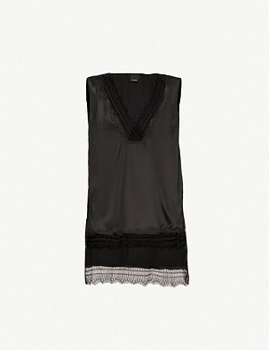 PINKO Aldo silk-satin top