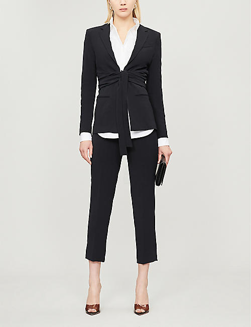 PINKO Denise gathered crepe jacket