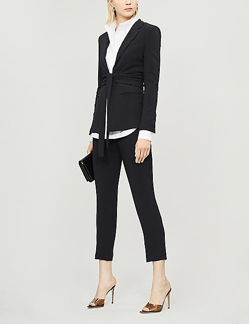 PINKO Natalia high-rise crepe tapered trousers