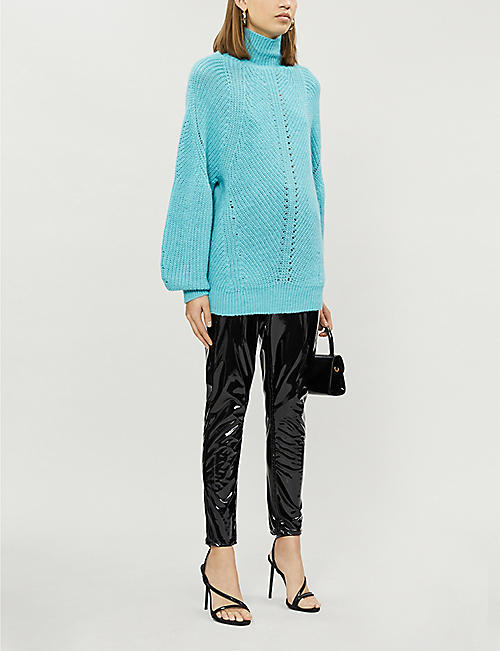 PINKO High-neck stretch-knit jumper