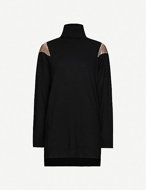 PINKO Armeno stretch-knit jumper