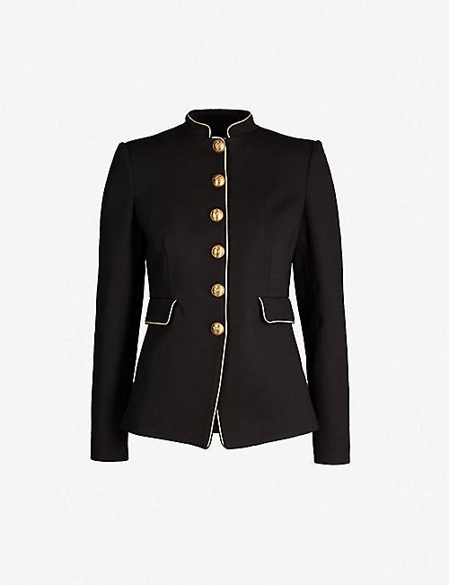 7c4a8ceb15 PINKO Etichetta piped-trim woven jacket