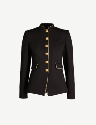 PINKO Etichetta piped-trim woven jacket