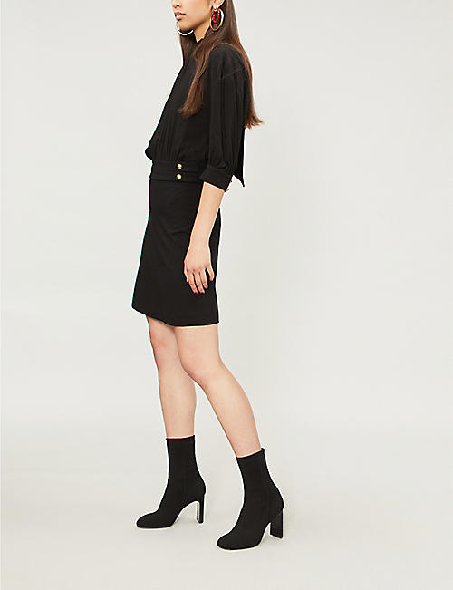 PINKO Pallone A-line wool mini dress