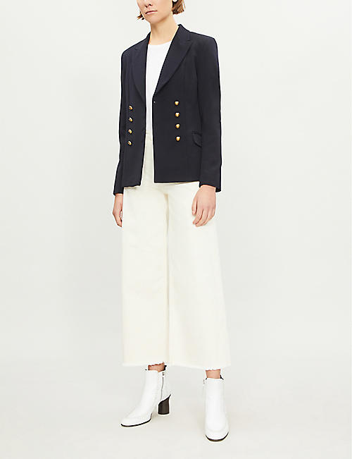 PINKO Macchina double-breasted wool-blend jacket