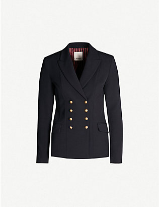 PINKO: Macchina double-breasted wool-blend jacket