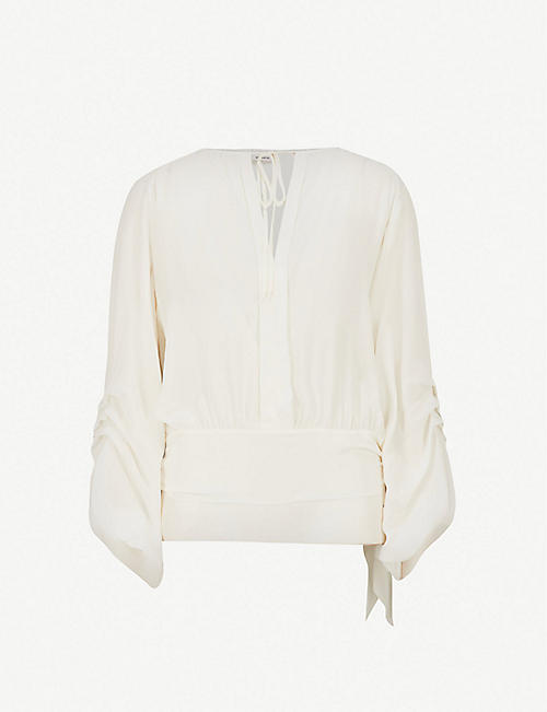 PINKO Velina self-tie silk blouse