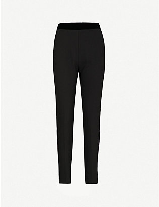 PINKO: Cornice slim-fit tapered crepe trousers