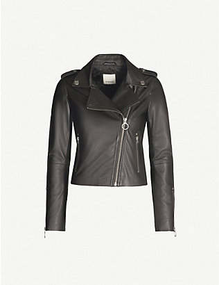 PINKO: Tenaglia leather jacket