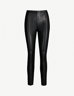 PINKO Spazzola slim-fit coated wool trousers