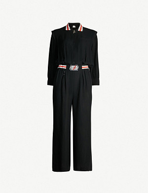 PINKO Moderno long-sleeved crepe jumpsuit