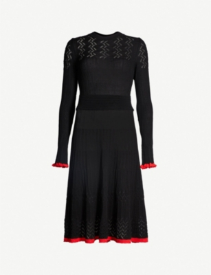 PINKO Dianella fit-and-flare knitted midi dress