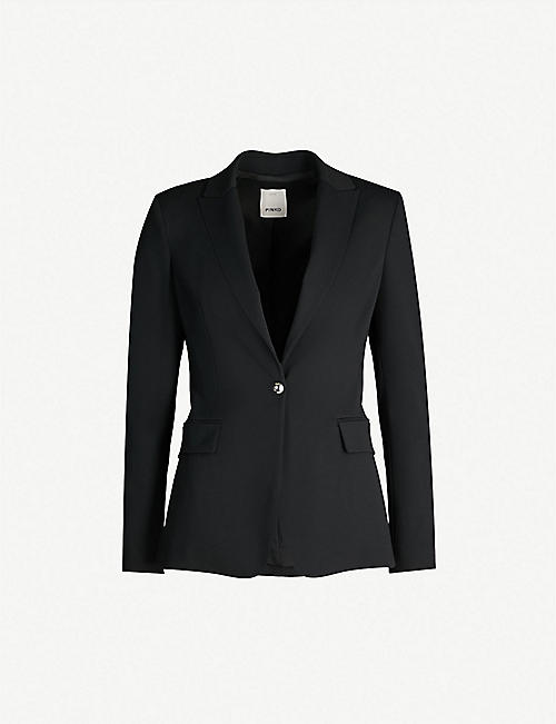 bf24426cd464ee PINKO Signum single-breasted crepe blazer