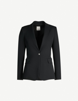 PINKO Signum single-breasted crepe blazer