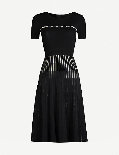 PINKO Infine pleated crepe dress