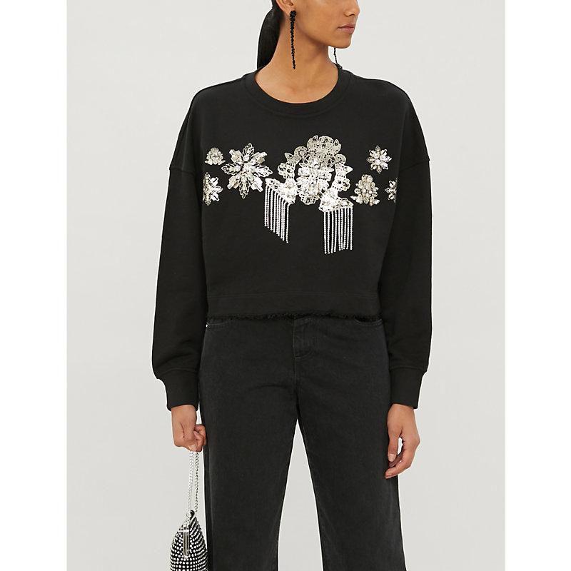 Moltiplicare graphic-print cotton-jersey sweatshirt