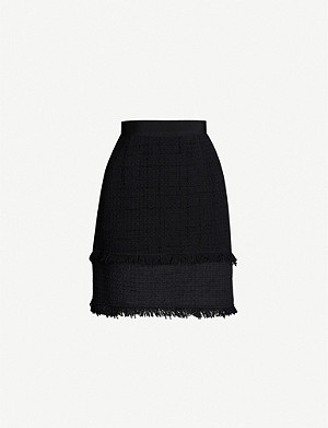 PINKO Rafforzare metallic-check woven mini skirt