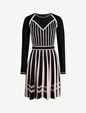 PINKO Maltese contrast-panel crepe jersey mini dress