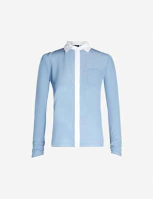 PINKO Samoiedo two-tone silk shirt