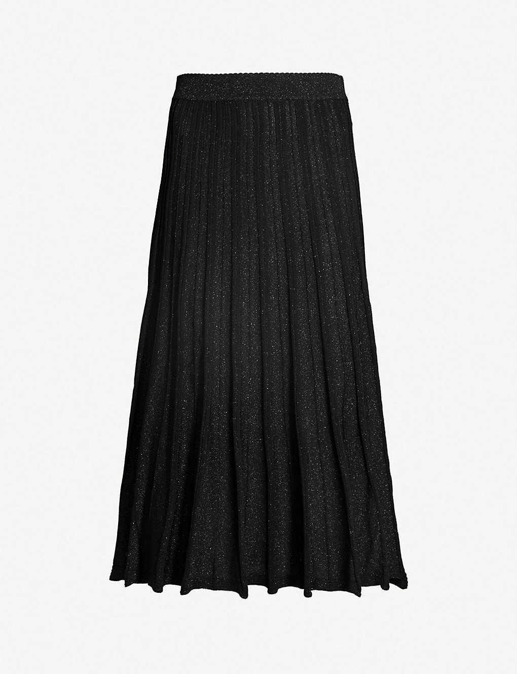 c062b63c59a PINKO - Beagle ribbed metallic stretch-knit midi skirt | Selfridges.com