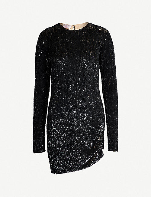 PINKO Settembre asymmetric sequinned mini dress